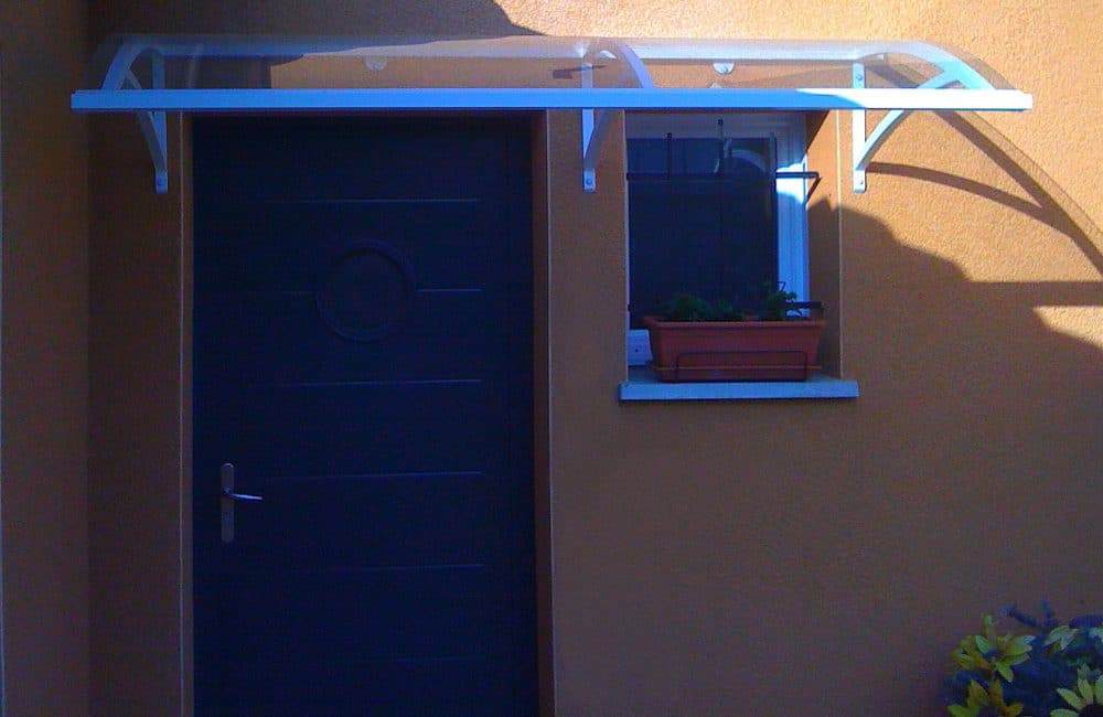 installation porte d'entrée-aluminium---Issenheim---Haut-Rhin-(68)